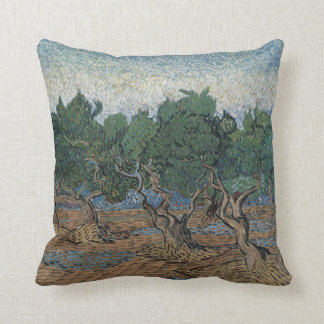 antique painting van gogh olive grove pillows