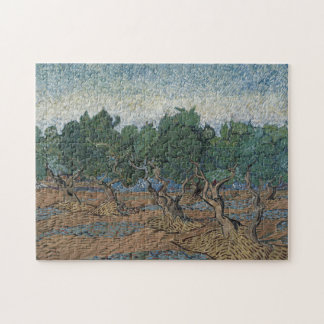 antique painting van gogh olive grove puzzle