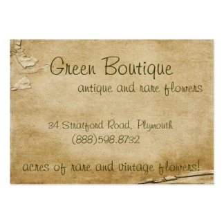 Antique Paper Pack Of Chubby Business Cards