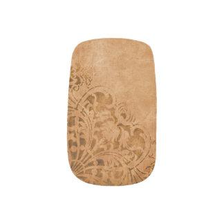 Antique Paper with Worn Pattern Minx Nail Art