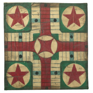 Antique Parcheesi Game Board by Ethan Harper Napkin