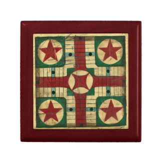 Antique Parcheesi Game Board by Ethan Harper Small Square Gift Box