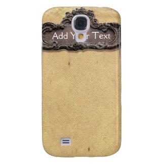 Antique Parchment and Brass Plaque Galaxy S4 Cases