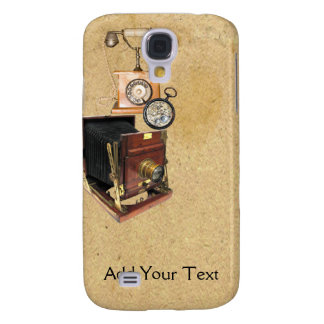 Antique Parchment and Tele Compass Camera Galaxy S4 Covers