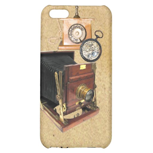 Antique Parchment and Tele Compass Camera Cover For iPhone 5C