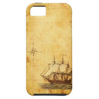 Antique Parchment  Map & Ship iPhone 5 Cases