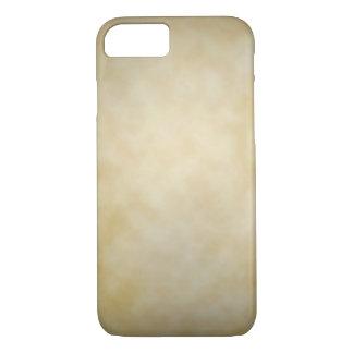 Antique Parchment Vignette Texture Background iPhone 7 Case
