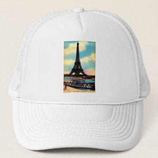 Antique Paris French Chic Eiffel Tower Trucker Hat