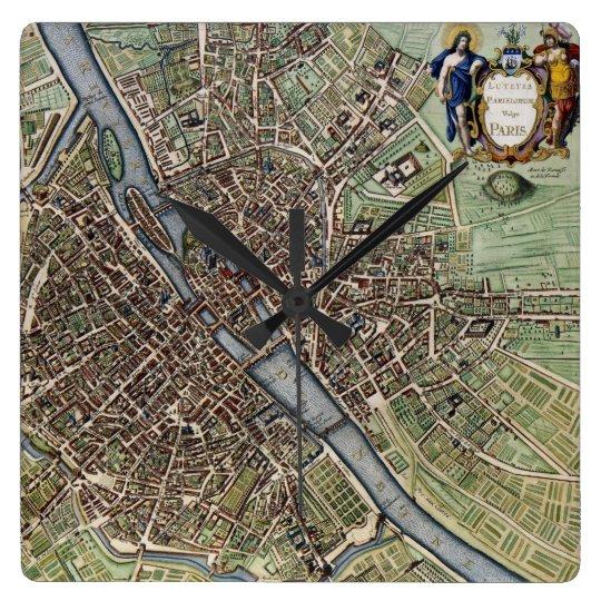 Antique Paris Map 1657 Seine River Vintage France