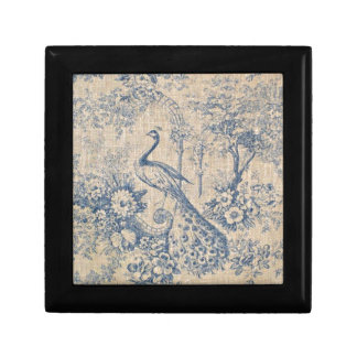 Antique Peacock Toile Gift Box