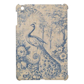 Antique Peacock Toile iPad Mini Cases