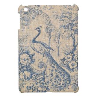 Antique Peacock Toile iPad Mini Cover