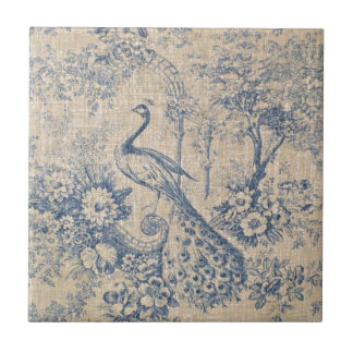 Antique Peacock Toile Tile