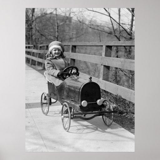 Antique Pedal Car, 1922 Posters