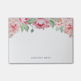 Antique Peony Floral Post-it Notes