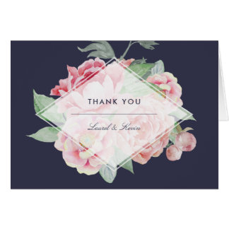 Antique Peony Thank You Card
