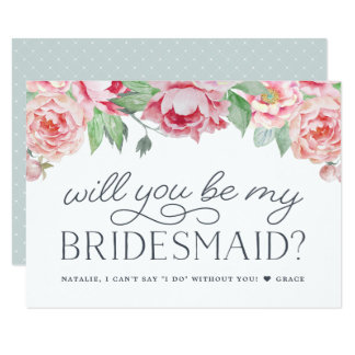 Antique Peony | Will You Be My Bridesmaid Card