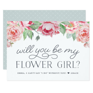 Antique Peony | Will You Be My Flower Girl Card