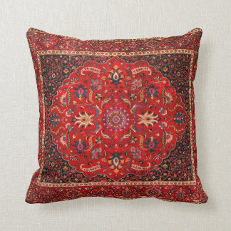 Antique Persian Mashhad Rug Cushion