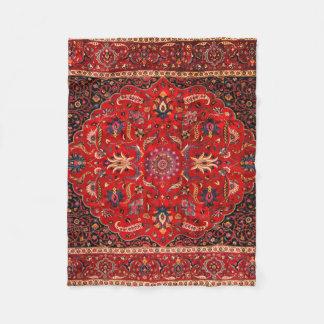 Antique Persian Mashhad Rug Fleece Blanket