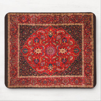 Antique Persian Mashhad Rug Mouse Mat
