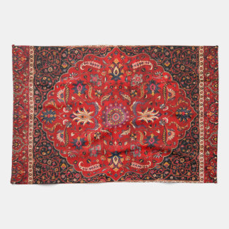 Antique Persian Mashhad Rug Towels