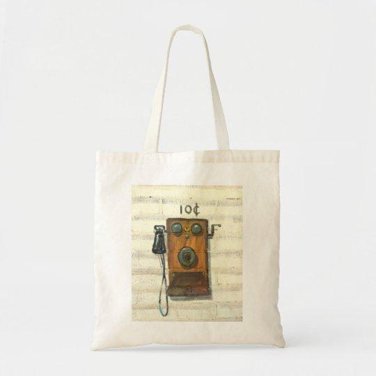 antique phone tote bag
