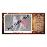 Antique Photo Frame Photo Greeting Card