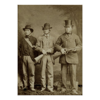 Antique Photograph - The Hunting Party Poster