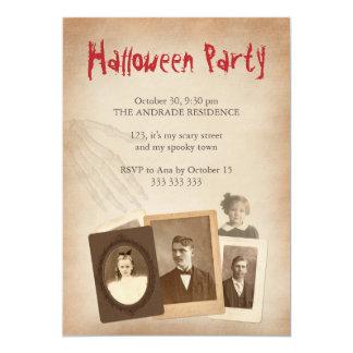 Antique Photos Vintage Halloween Skeleton Hand Card