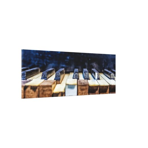 Antique Piano Gallery Wrapped Canvas