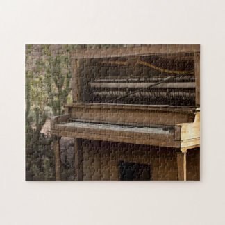 Antique Piano in desert Jigsaw Puzzle