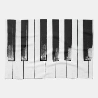 Antique Piano Keys Keyboard Hand Towels