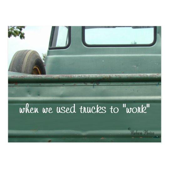Antique Pickup Truck Postcard #1- customise