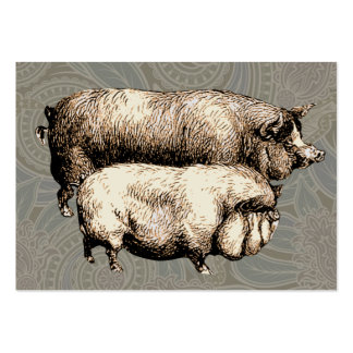Antique Pigs Vintage piggy drawing Pack Of Chubby Business Cards