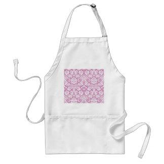 Antique pink damask pattern adult apron