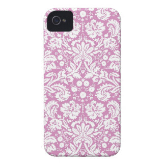 Antique pink damask pattern iPhone 4 case