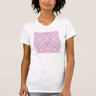 Antique pink damask pattern tee shirt