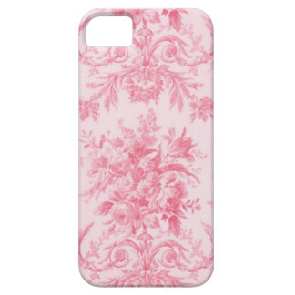 Antique Pink Rose and White Toile iPhone 5 Covers