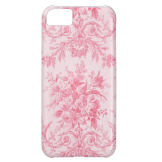 Antique Pink Rose and White Toile iPhone 5C Case