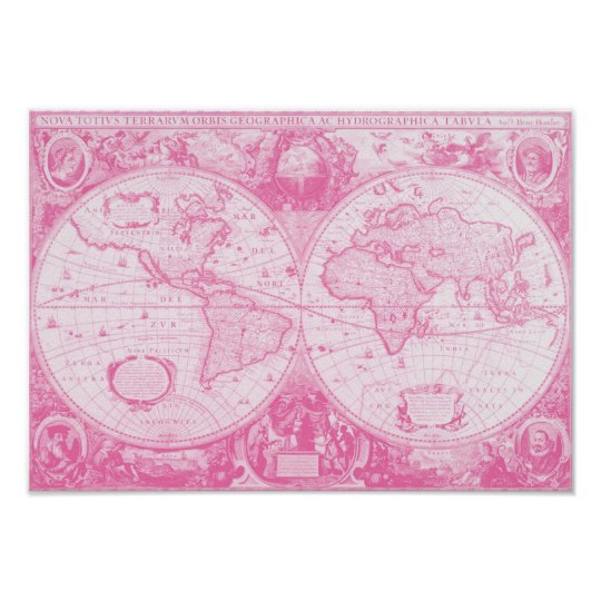 Antique Pink World Poster