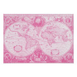 Antique Pink World Posters