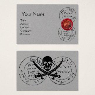 ANTIQUE PIRATES TREASURE MAP,Red Wax Seal Grey