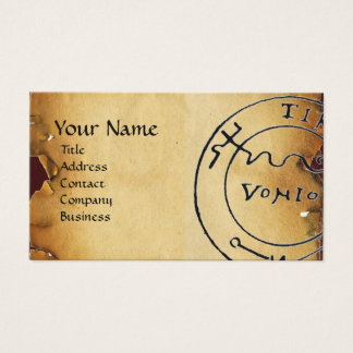 ANTIQUE  PIRATES TREASURE MAP ,SKULL AND SWORDS BUSINESS CARD