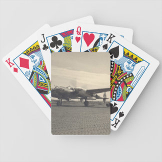 antique plane bicycle card deck