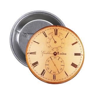 Antique Pocket Watch 6 Cm Round Badge