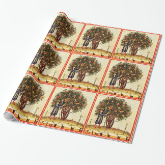ANTIQUE POMEGRANATE TREE WRAPPING PAPER