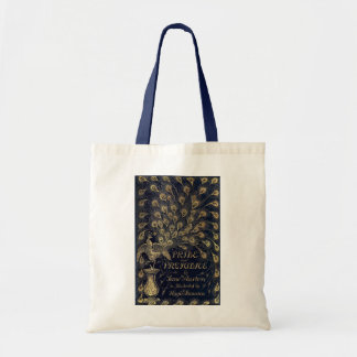 Antique Pride and Prejudice Peacock Edition Cover Budget Tote Bag