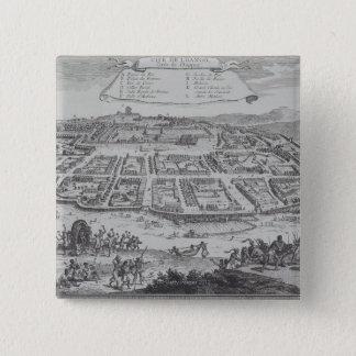 Antique Print of Congo 15 Cm Square Badge