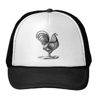 Antique Print Vintage Rooster Cockerel Mesh Hat